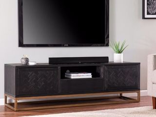 Black   Antique Gold Carbon loft Delgany Contemporary Black TV Media Stand Retail 601 99
