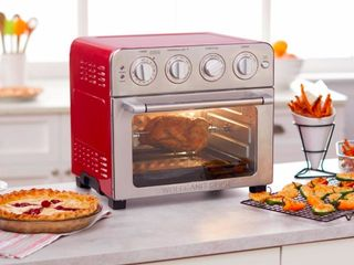 Red  Wolfgang Puck 1700 Watt 23 liter Air Fryer Oven with Rotisserie  Retail 139 99