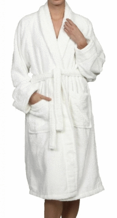 100  long Staple Combed Cotton Bath Robe  large