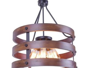 Rustic Wooden Chandelier  Natural 5 lights Pendant light Wood and Iron  Retail 178 49
