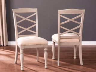 Southern Enterprise Ivory Upholstered Dining Chairs  Set of 2