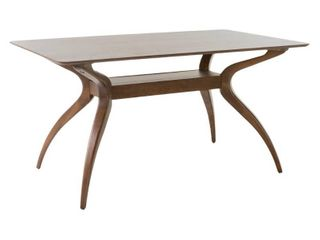 Walnut Salli Natural Finish Wood Dining Table by Christopher Knight Home