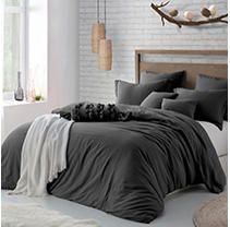 Microfiber Washed Crinkle Duvet Cover  amp  Shams  Twin Twin Xl Bedding