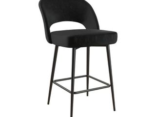 Single  Cosmoliving Alexi Upholstered Counter Stool  Black  Retail 136 49