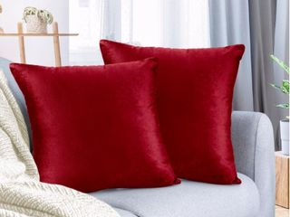 Nestl Beeding Throw Pillow Covers  24 x 24  Cherry Red Pack of 4