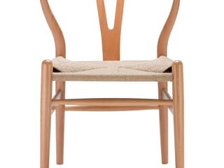 Poly and Bark Weave Chair  Set of 2  Walnut Retail 296 49