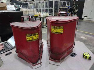 10 Gallon Triangular Oily Waste Can and 14 Gallon Triangular Oily Waste Can