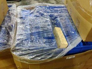 large Box of Blue Plastic Parts Organizers