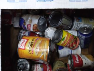 Box of Misc Canned Goods