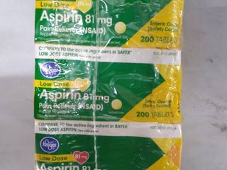 Kroger low dose aspirin 81 mg pain relief tablets
