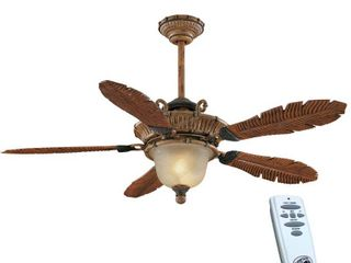 Hampton Bay Tropics 54 in  Weathered Cane Ceiling Fan