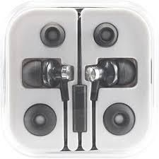 Hottips 2343384 Premium Earbuds with Mic in Case  Black