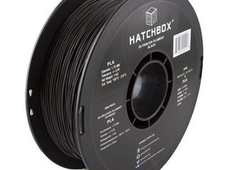 HATCHBOX 3D PlA 1KG1 75 BlK PlA 3D Printer Filament  Dimensional Accuracy   0 05 mm  1 kg Spool  1 75 mm  Black