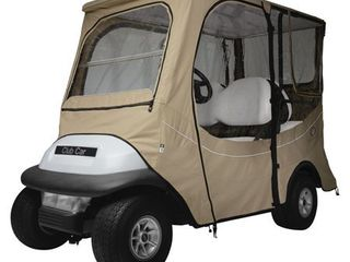 Classic Accessories Fairway Golf Cart FadeSafe Enclosure for Club Car  long Roof  Khaki