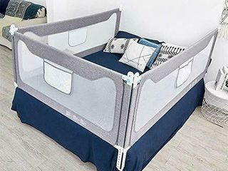 3 side bed rails for toddler with Y strap