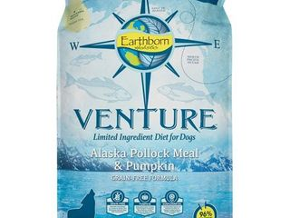Earthborn Holistic Venture Grain Free limited Ingredients Alaska Pollock   Pumpkin Dry Dog Food  25 lb