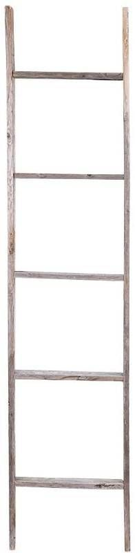 5 Rungs Wooden Decorative ladder