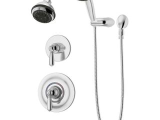Allura 2 Handle 3 Spray Shower Trim with 3 Spray Hand Shower in Polished Chrome  Valves Not Included