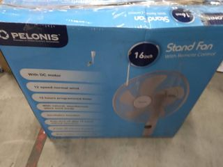 Pelonis Pfs40d8aww Silent Turbo Standing Adjustable Fan Powerful Quiet Speed