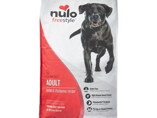 Nulo Freestyle Grain Free Adult lamb   Chickpeas Dry Dog Food  24 lb
