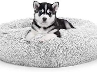 The Dogas Bed Sound Sleep Donut Dog Bed   Cat Bed  Original Calming Anti Anxiety Premium Quality Plush Nest Snuggler