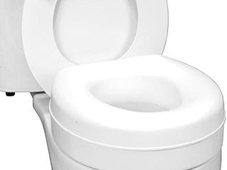 HealthSmart Portable Elevated Raised Toilet Seat Riser that fits Most Standard Seats
