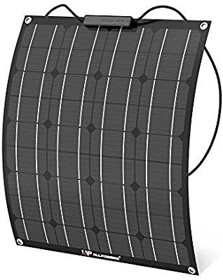 AllPOWERS 50W 18V 12V Flexible Solar Panel Charger with ETFE layer  MC4 connectors  Semi Bendable Water resistant Solar Charger