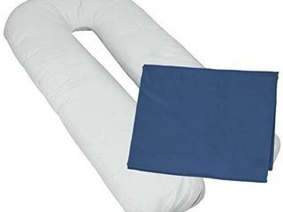MoonRest Pillowcase Cover for U Shape Body Support Pillow a FITS All U Shape Pillows   Oversized Body Pillowcase Cover a with Easy Zipper End  Navy