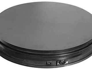 Fotoconic Black Electric Motorized Rotating Turntable Display Stand  14 Inch   35cm Diameter  110 lb Centric loading for Shop Display