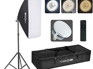 YICOE Softbox Photography lighting Kit Professional Photo Studio Equipment 20 X28  Studio Photography light with 5700K Energy Saving light Bulb for Filming YouTube Video Model Advertising Shooting