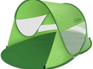 Multifun UPF 50  Easy Pop Up Beach Tent  large 3 4 Person Sun Shelter  Windproof Waterproof Family Beach Shade  Portable Shark Beach Tent
