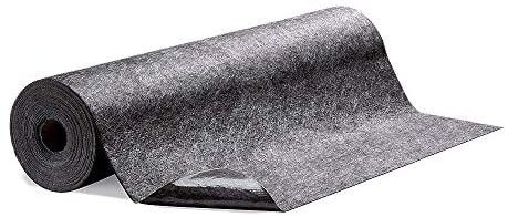 New Pig Grippy Floor Mat  Adhesive Backed  Absorbent Top  10 Gal Absorbency  100  l x 48  W  Gray  GRP48200 GY