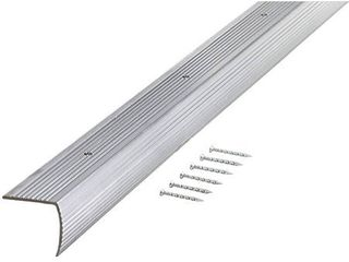 M D Building Products 78022 Fluted 1 1 8 Inch by 1 1 8 Inch by 36 Inch Stair Edging  Silver