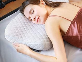 HOKEKI Pillow Ergonomic Cervical Sleeping Pillow for Neck Pain Support for Back  Stomach  Side Sleepers Premium Memory Foam Pillow Removable and Washable Cover White Standard Size