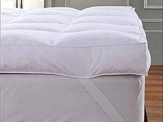 QUEEN ROSE Cooling Extra Thick 3  Mattress Topper Queen 400TC Pillow Down Topper Mattress Pad Cover Bed Mattress Topper Hotel Quality Down Alternative  Plush and Support