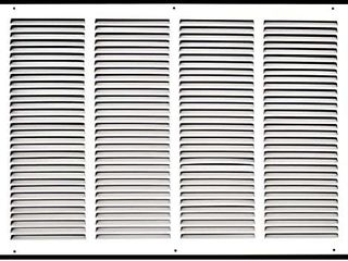24  X 18  Steel Return Air Grille   HVAC Vent Cover Grill for Sidewall and Ceiling  White   Outer Dimensions  26 5 W X 20 5 H for 24x18 Duct Opening
