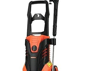 SUNCOO 3000PSI Electric High Pressure Washer  2 4 GPM 1800W Portable Power Washer with Brass Copper Motor long Spray Gun  Adjustable Nozzle  20ft High Pressure Hose