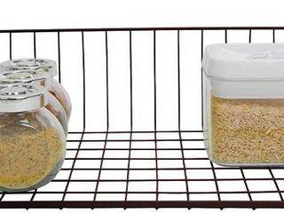 Smart Design Undershelf Storage Basket   Medium   Snug Fit Arms   Steel Metal Wire   Rust Resistant   Under Shelves  Cabinet  Pantry    Shelf Organization   Kitchen