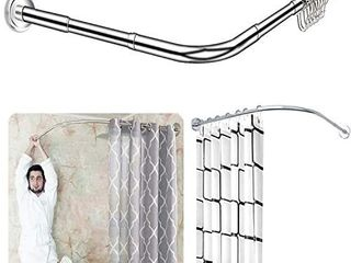 Quany life Stretchable Corner Shower Curtain Rod