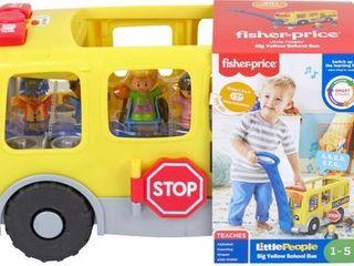 aFisher Price little People Big Yellow Bus