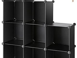 TomCare Cube Storage 9 Cube Closet Organizer Shelves Plastic Storage Cube Organizer DIY Closet Organizer Storage Cabinet Modular Book Shelf