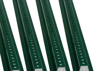 SmartSign U Channel Sign Post  Heavy Duty   6  Tall Baked Enamel Steel Post   Pack of 4