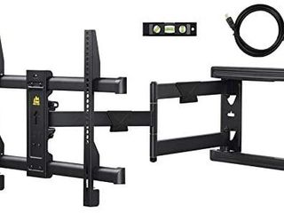 FORGING MOUNT long Extension TV Mount Corner Wall Mount TV Bracket Full Motion with 30 inch long Arm for Corner Flat Installation fits 32 to 70  Flat Curve TVs  VESA 600x400mm Holds up to 99lbs