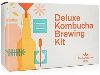 Deluxe Kombucha Brewing Kit   Six Swing Top Bottles  Stainless Steel Funnel