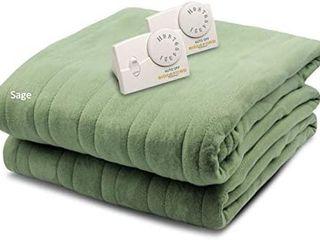 Biddeford Blankets Comfort Knit Heated Blanket  Queen  Sage