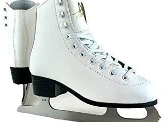 American Athletic Shoe Girl s Tricot lined Ice Skates  Size 1