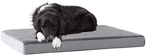 Barkbox Memory Foam Platform Dog Bed   Plush Mattress for Orthopedic Joint Relief   Machine Washable Cuddler with Removable Cover and Water Resistant lining  medium
