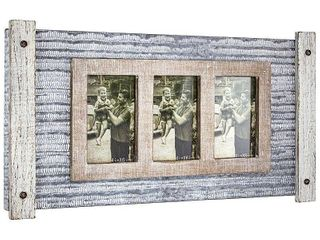 Metal And Wood 3 Photo Picture Frame   E2 Concepts