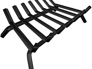 Amagabeli Black Wrought Iron Fireplace log Grate 30 inch Wide Heavy Duty Solid Steel Indoor Chimney Hearth 3 4  Bar Fire Grates for Outdoor Kindling Tools Pit Wood Stove Firewood Burning Rack Holder