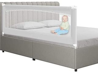 MAYbabe Bed Rails for Toddlers Extra long and Tall Infants Guardrail  for The Foot of Cal King